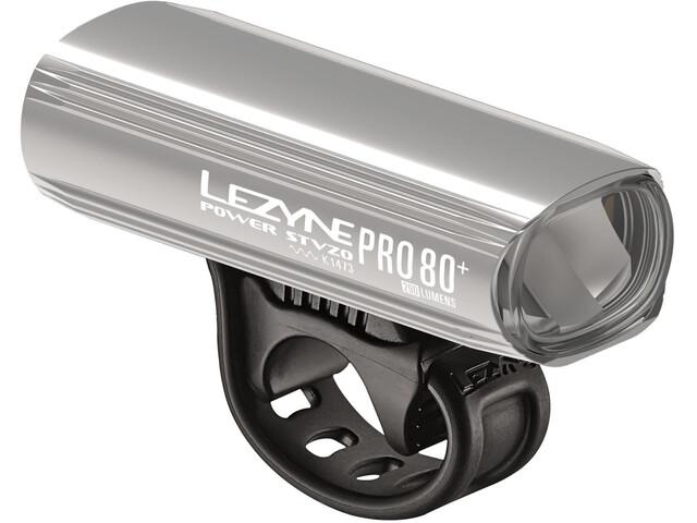 Lezyne Power Pro 80 Frontlicht StVZO Y11 silber-glänzend/weiß